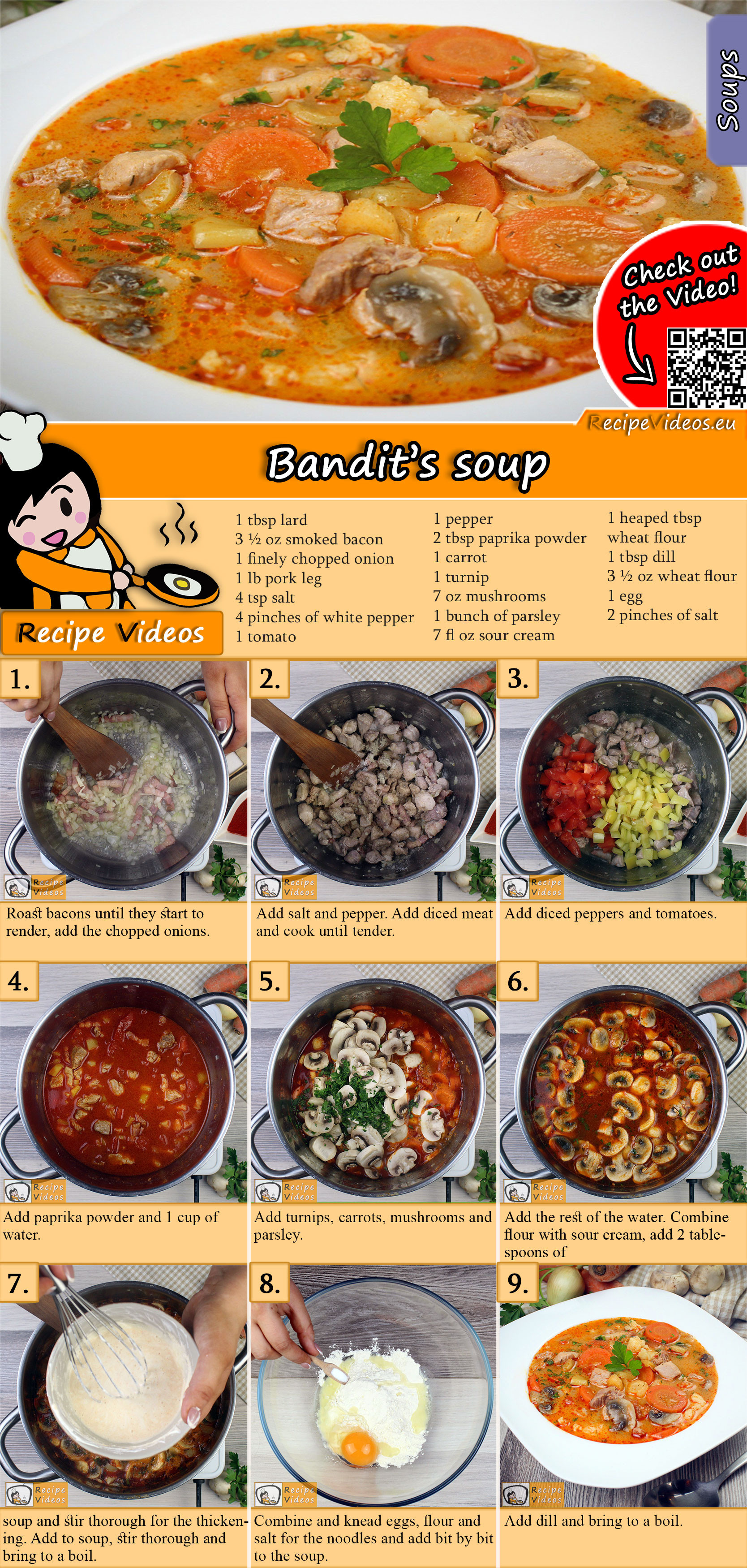Bandit's soup recipe with video