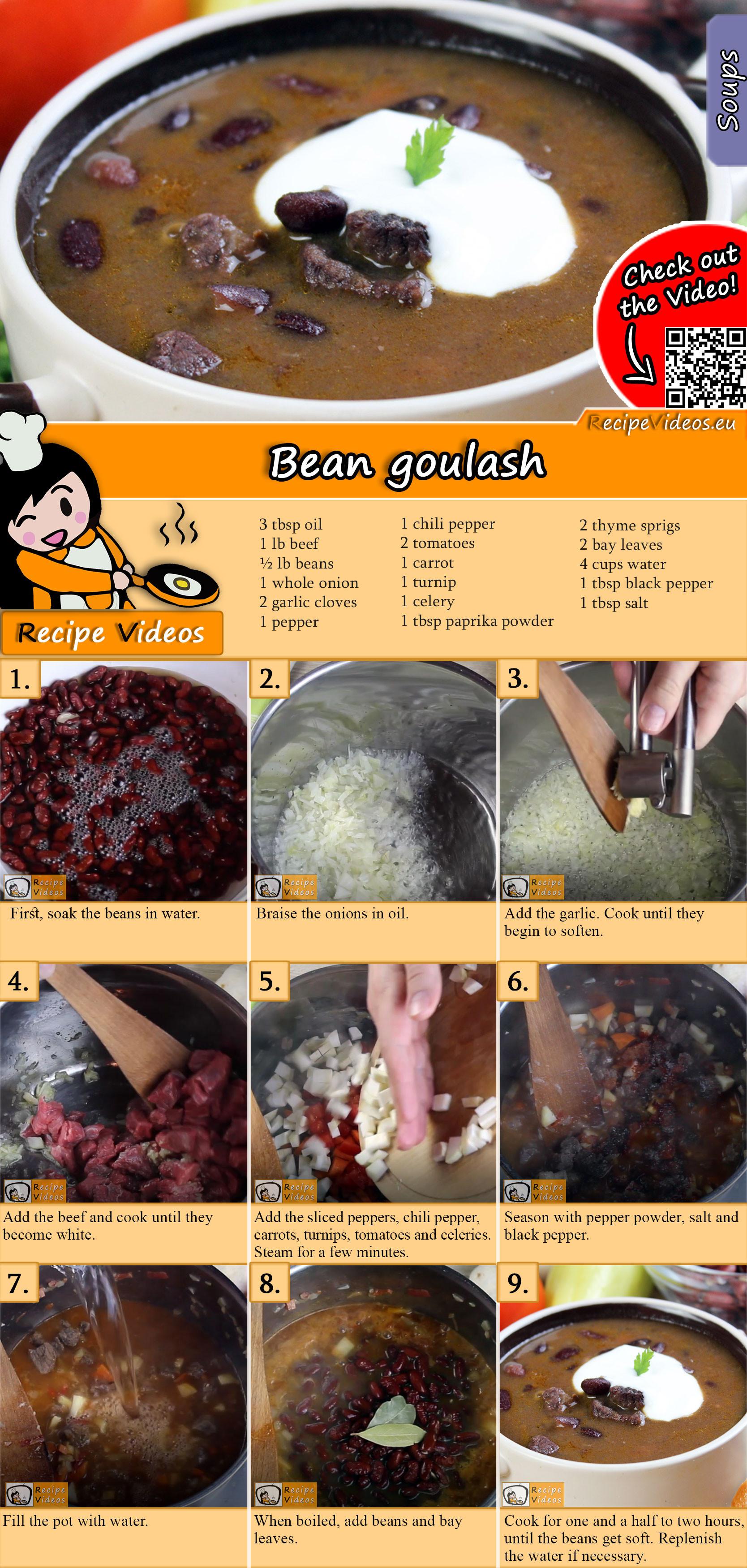 Bean goulash recipe with video