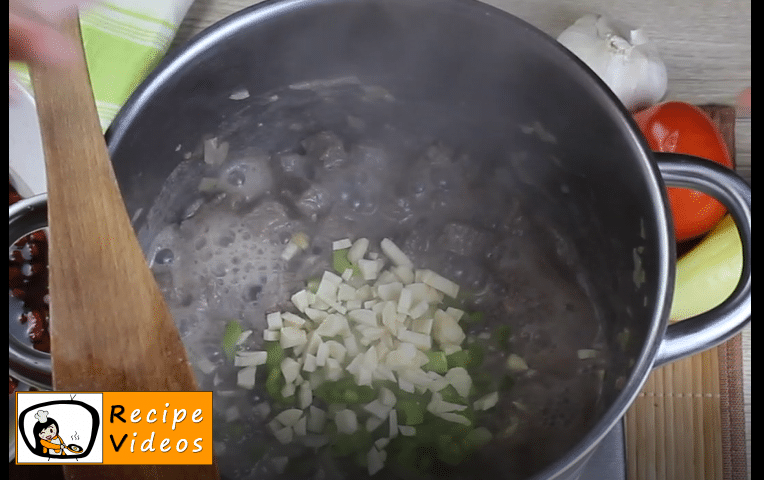Bean goulash recipe, prepping Bean goulash step 7