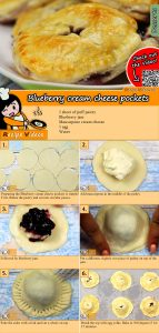 Blueberry cream cheese pockets recipe with video