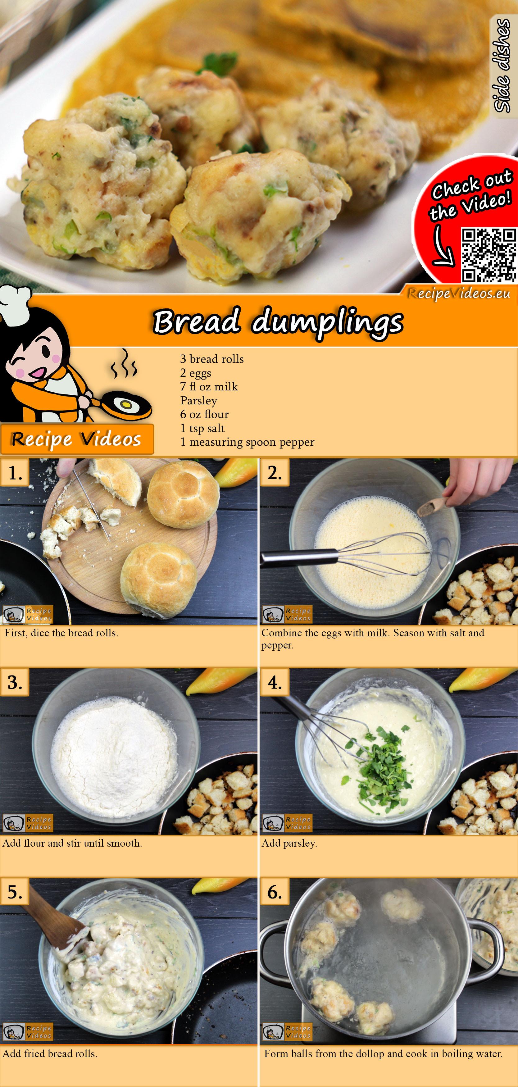 Bread dumplings recipe with video