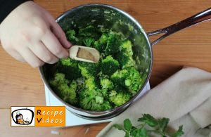 Broccoli cream soup recipe, prepping Broccoli cream soup step 7