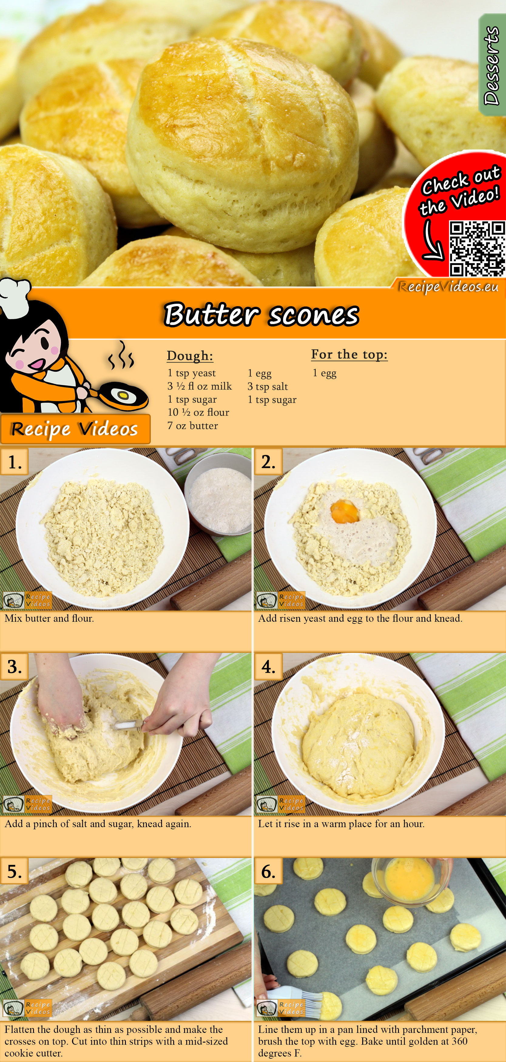 Butter scones recipe with video