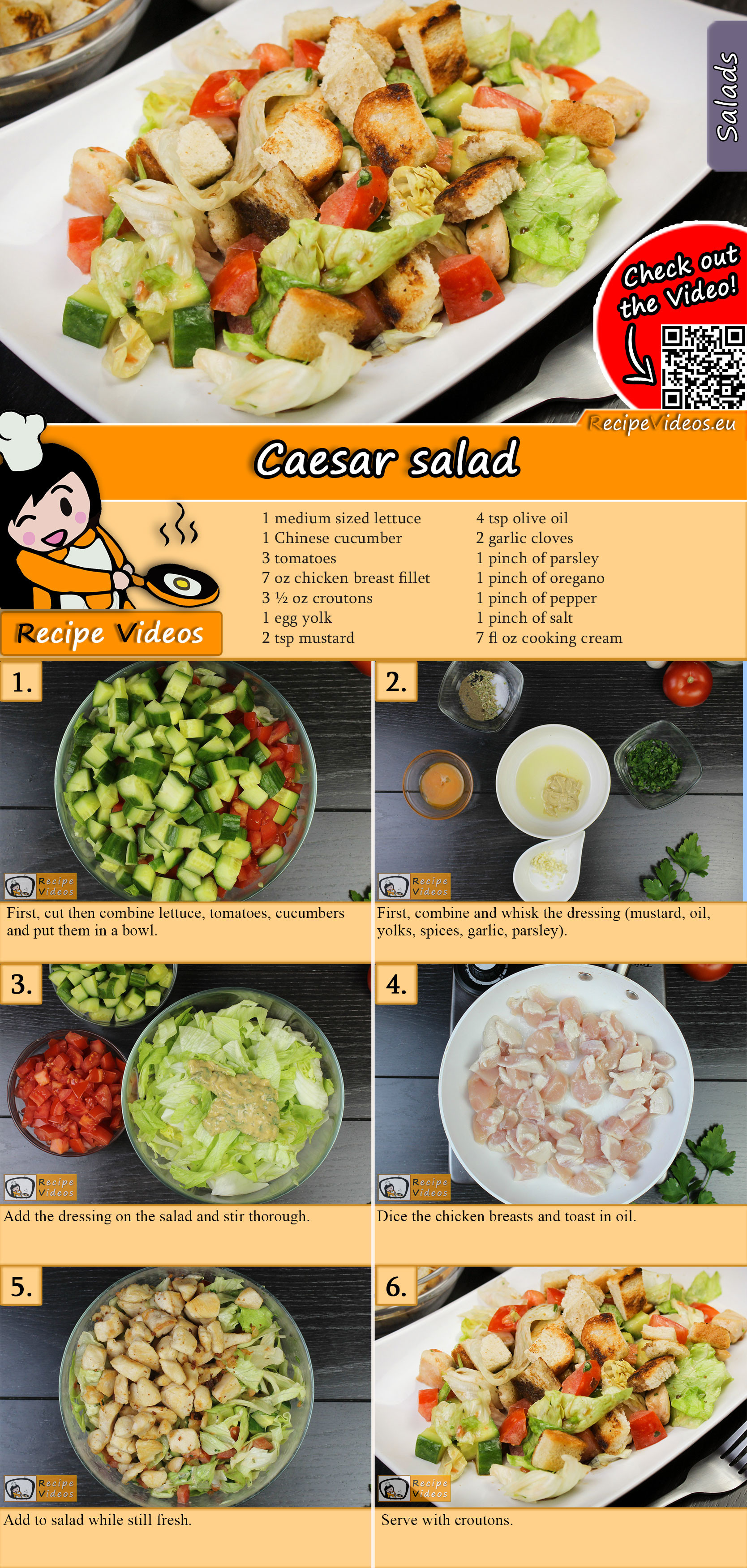 Caesar salad recipe with video