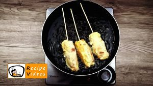 Cheese-bacon-sausages baked in batter recipe, how to make Cheese-bacon-sausages baked in batter step 6