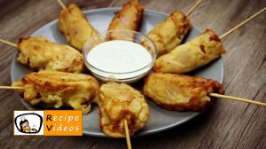 Cheese-bacon-sausages baked in batter recipe, how to make Cheese-bacon-sausages baked in batter step 7
