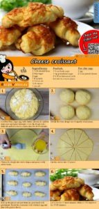 Cheese croissant recipe with video