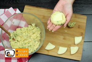 Cheese-filled potato medallions recipe, prepping Cheese-filled potato medallions step 6