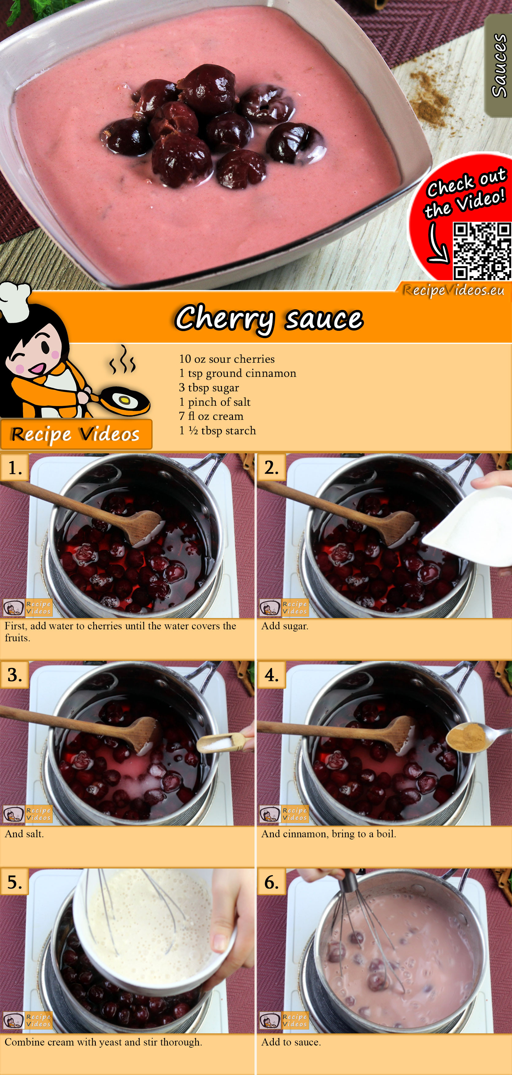 Cherry sauce recipe with video