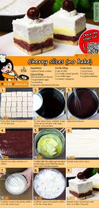 Cherry slices (no bake) recipe with video