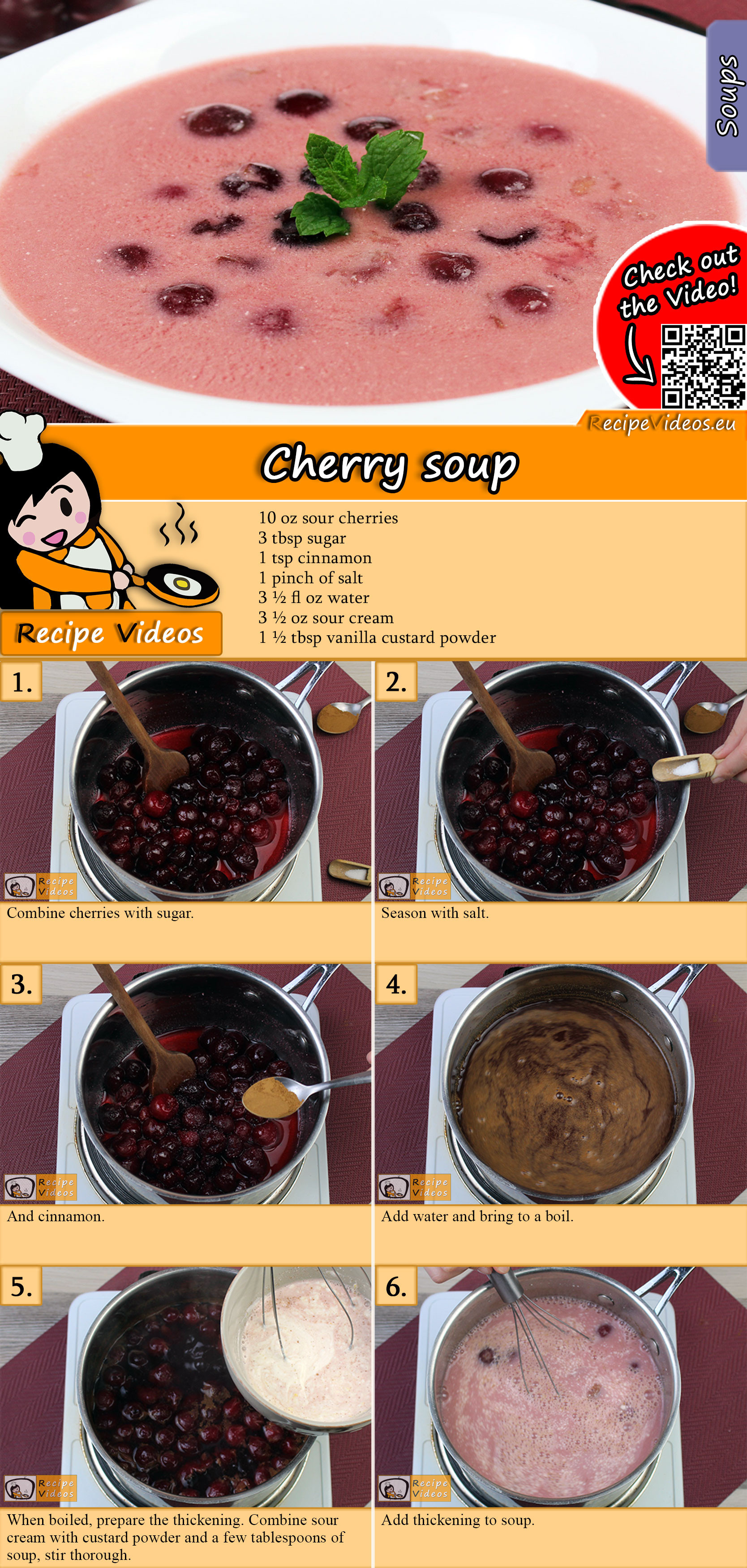 Cherry soup recipe with video