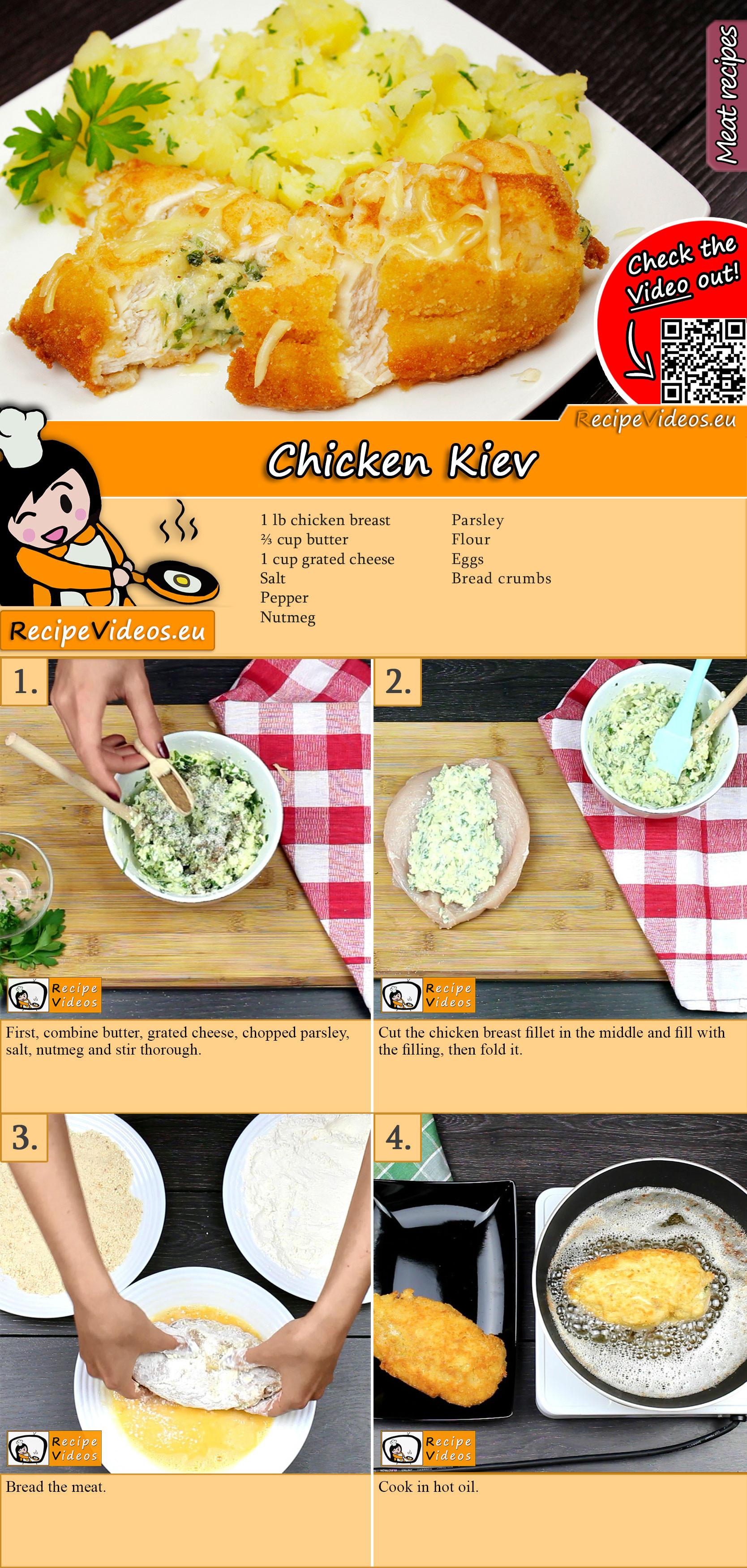 Chicken Kiev recipe with video