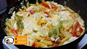 Chicken and vegetables penne recipe, prepping Chicken and vegetables penne step 5