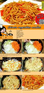 Chinese vegetables noodles recipe with video