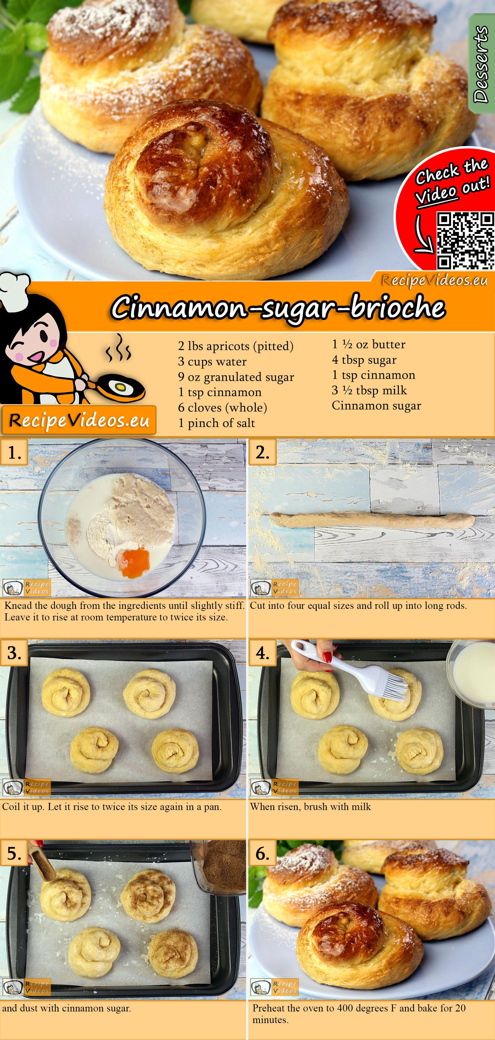 Cinnamon-sugar-brioche recipe with video