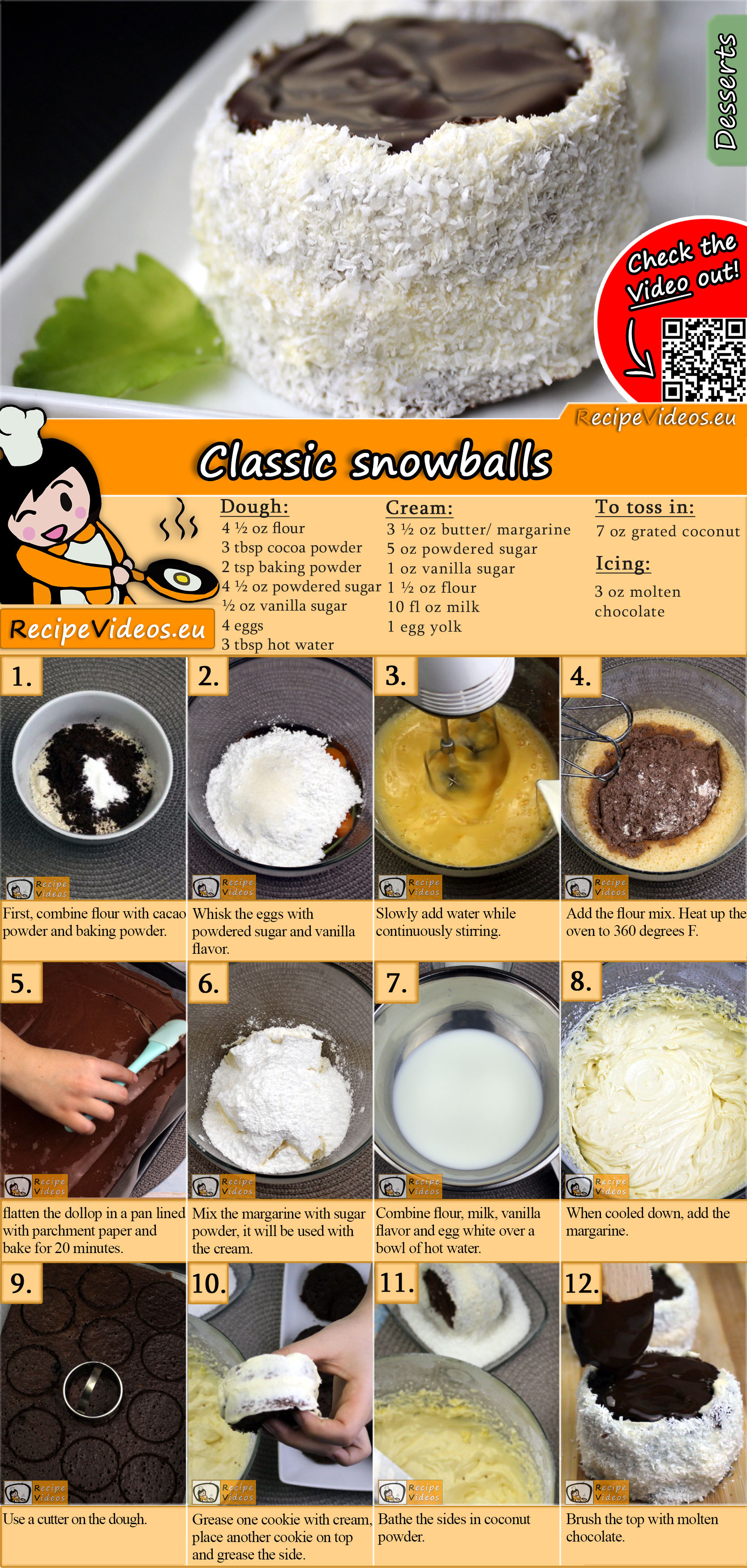 Classic snowballs recipe with video