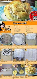 Coconut rolls recipe with video