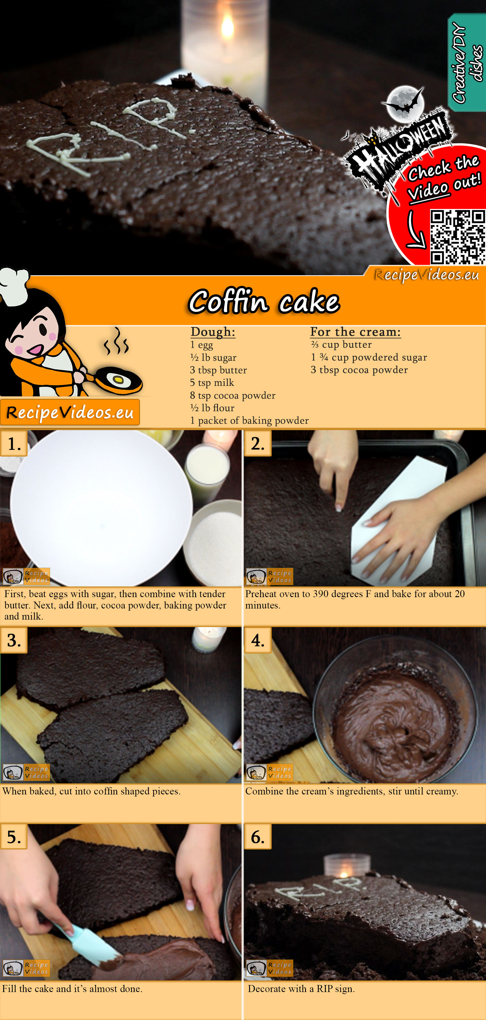 Coffin cake recipe with video