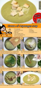 Cream of Asparagus soup recipe with video