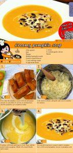 Creamy pumpkin soup recipe with video