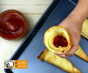 Pizza cones recipe, how to make Pizza cones step 3
