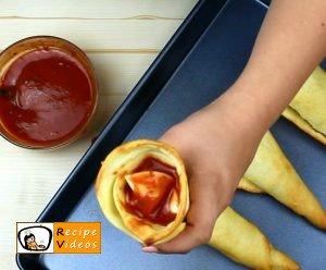 Pizza cones recipe, how to make Pizza cones step 4