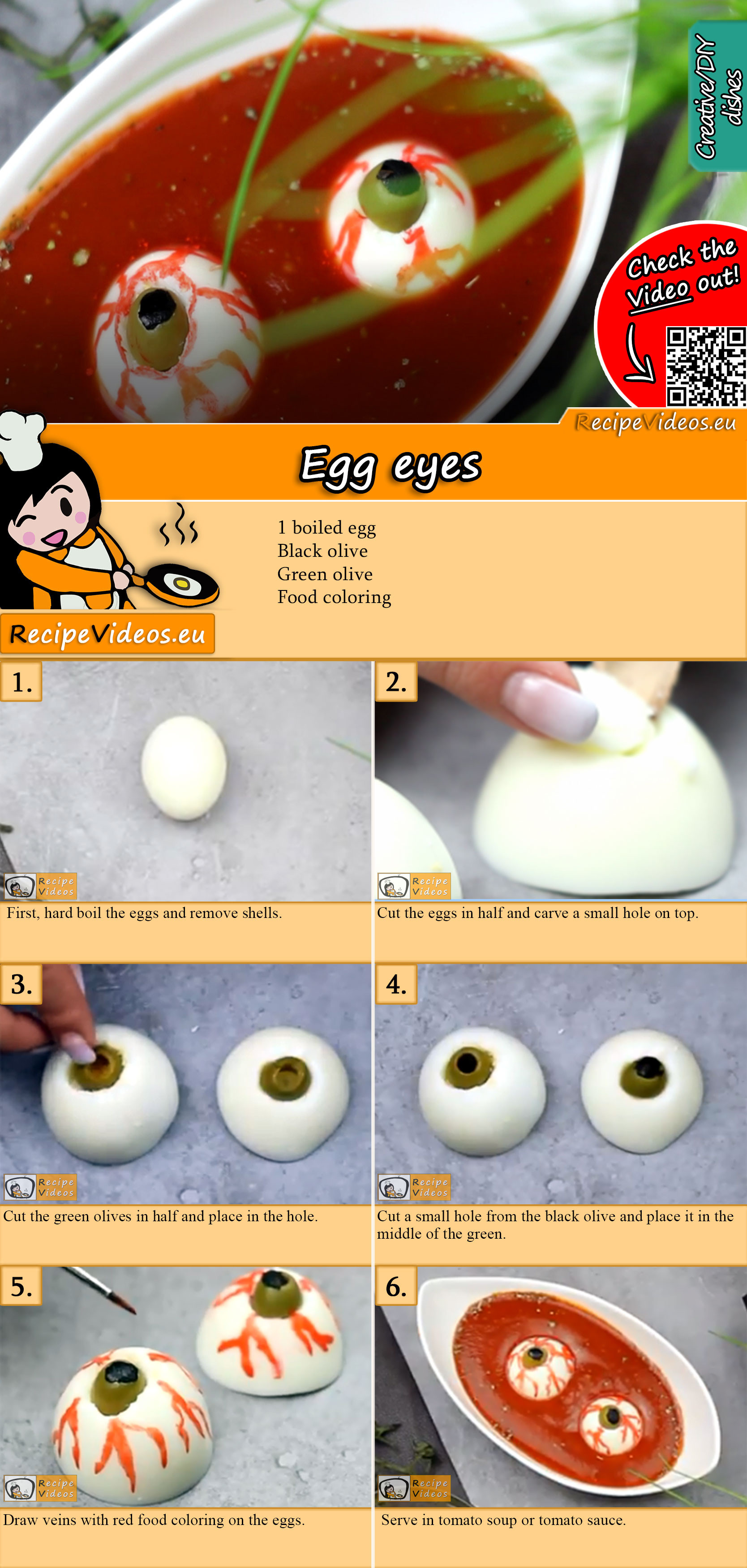 Egg eyes recipe with video