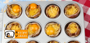 Egg muffins with cheese and bacon recipe, prepping Egg muffins with cheese and bacon step 5