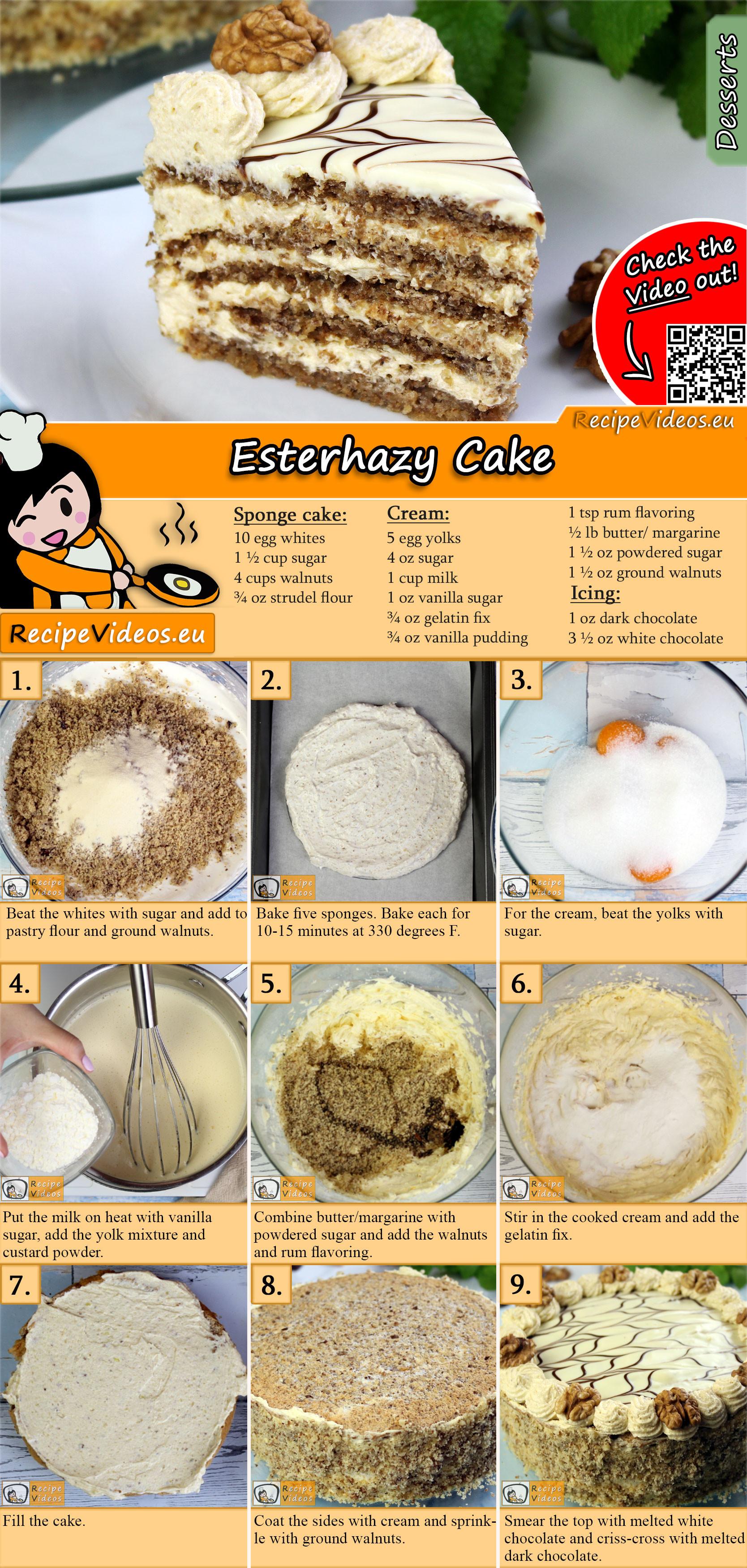 Esterhazy Torte recipe with video