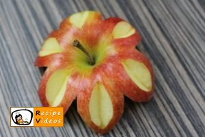 Fruit cup with apple flowers recipe, how to make Fruit cup with apple flowers step 1
