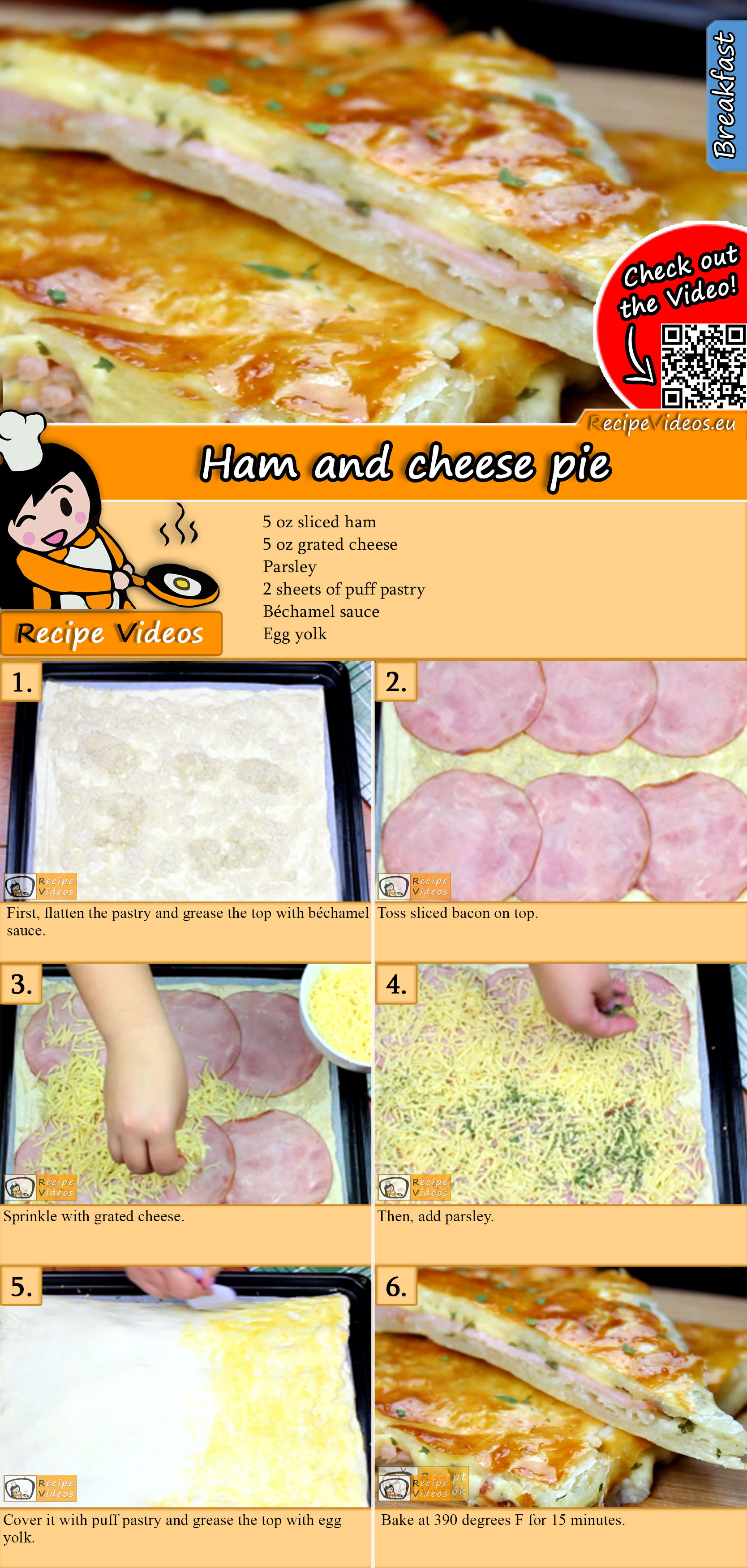 Ham and cheese pie recipe with video