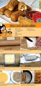 Ham and cheese sticks recipe with video