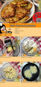Hash browned potatoes recipe with video
