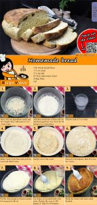 Homemade bread recipe with video