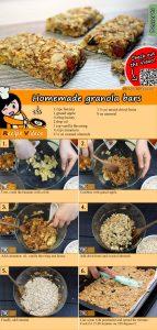 Homemade granola bars recipe with video