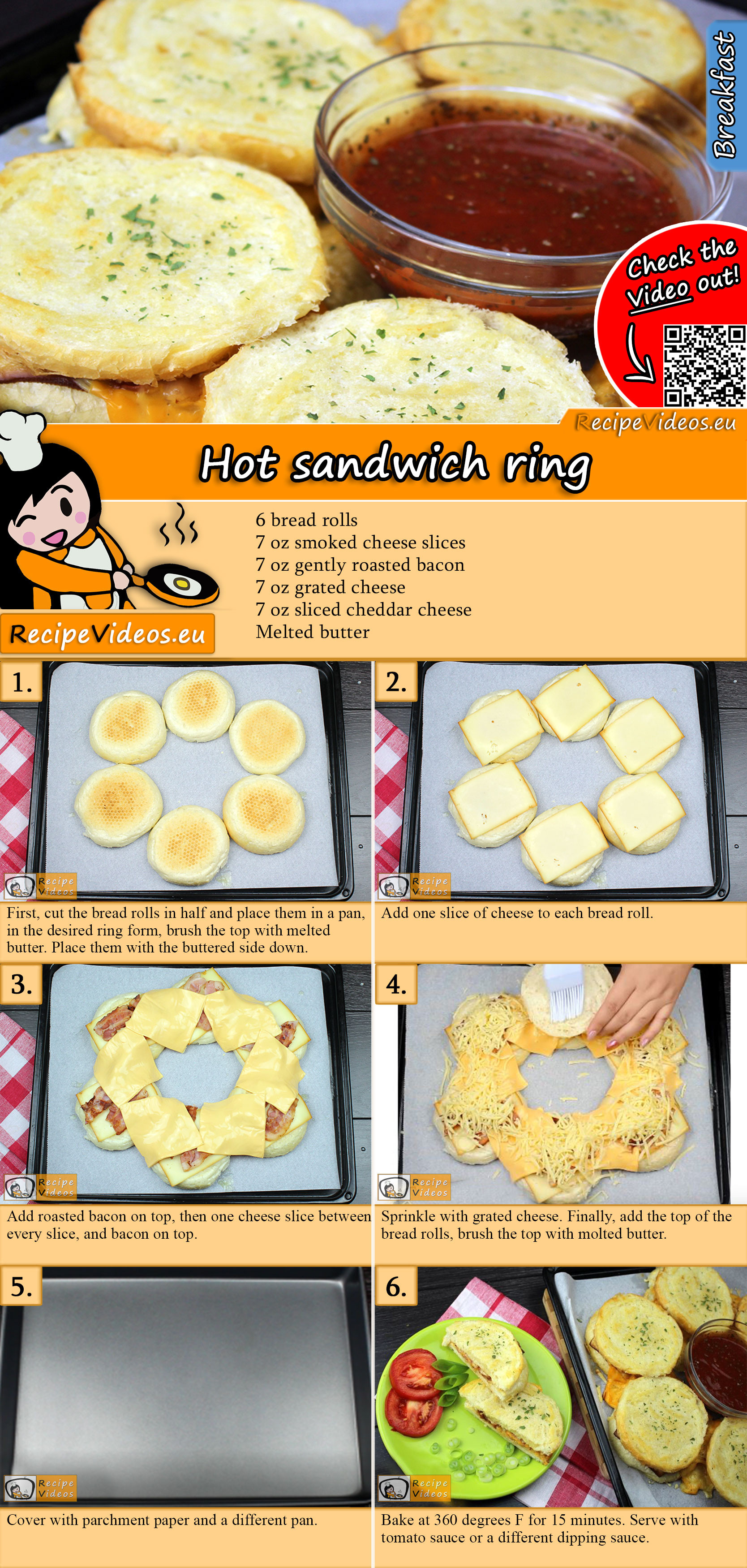 Hot sandwich ring recipe with video