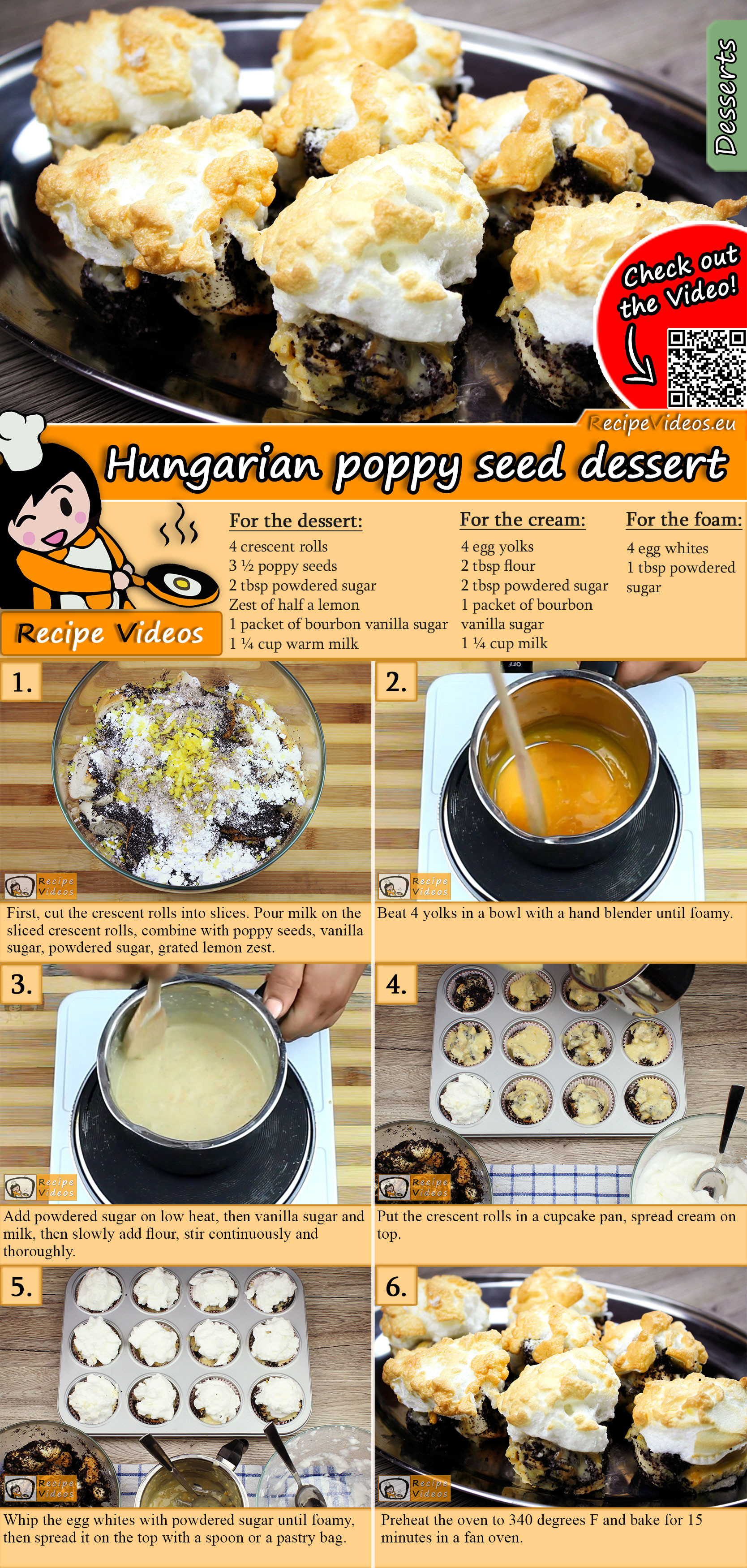 Hungarian poppy seed dessert recipe with video