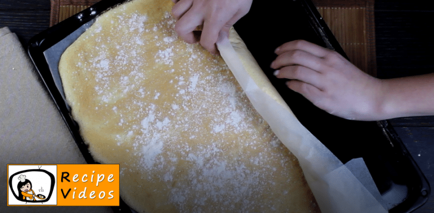 Jam Swiss roll recipe, prepping Jam Swiss roll step 6