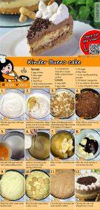 Kinder Bueno cake recipe with video