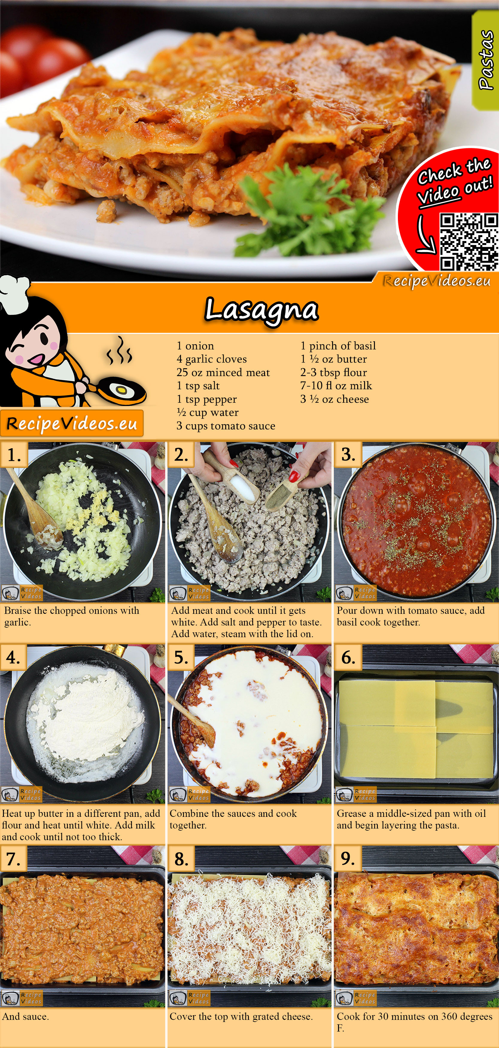 Lasagna recipe with video
