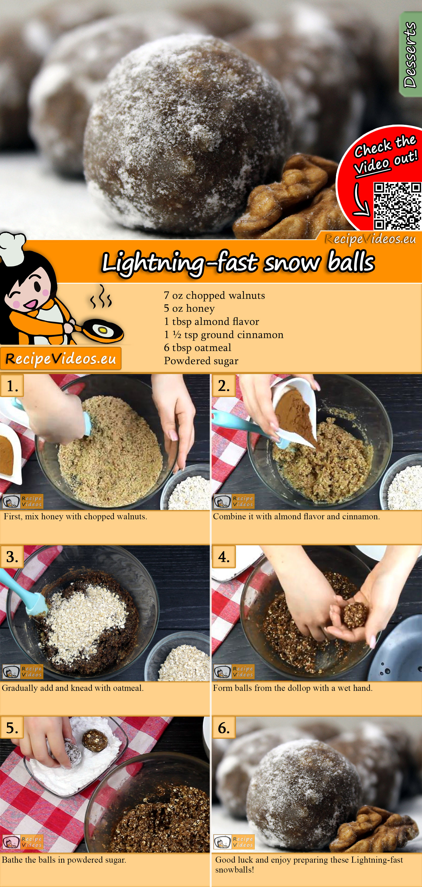 Lightning-fast snow balls recipe with video