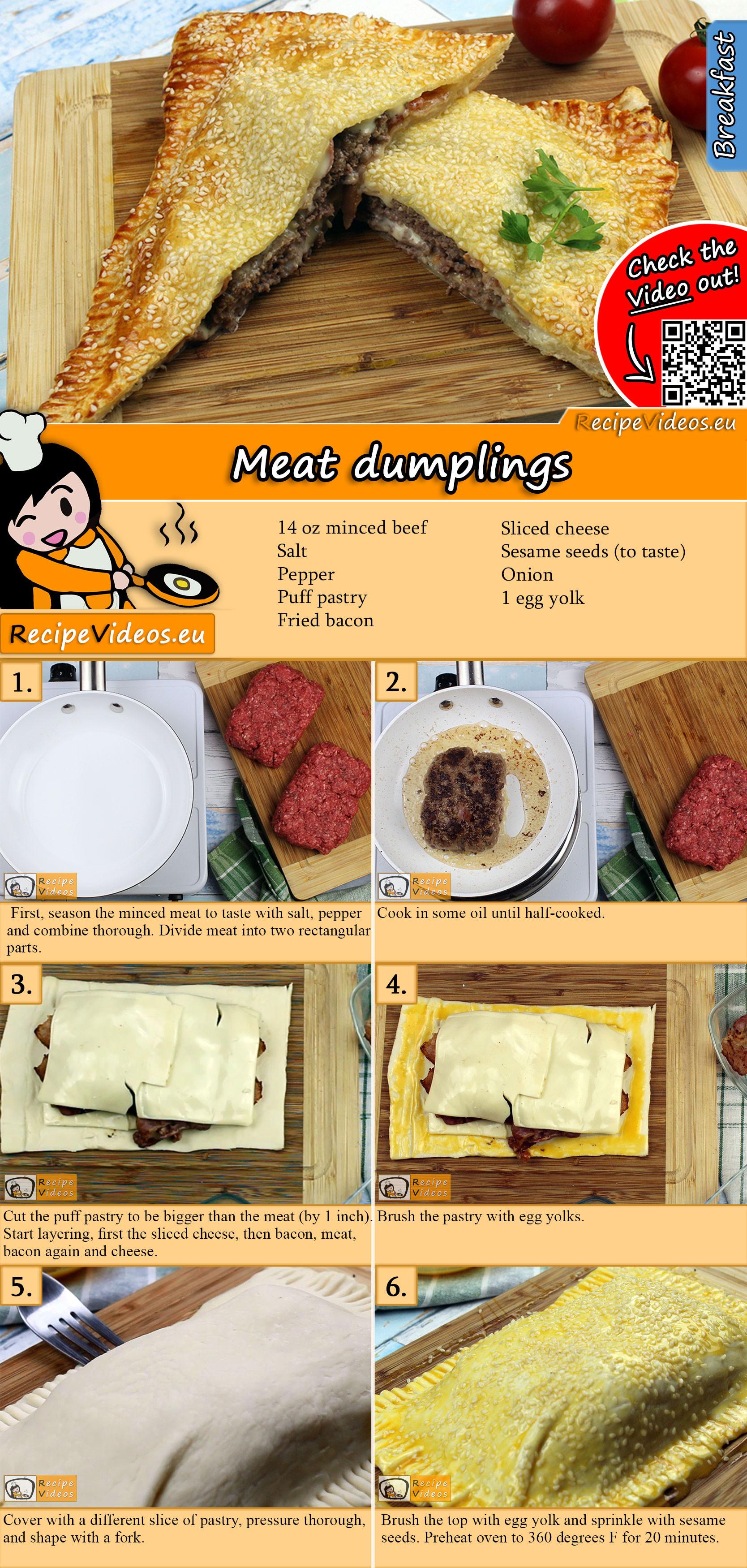 Meat dumplings recipe with video