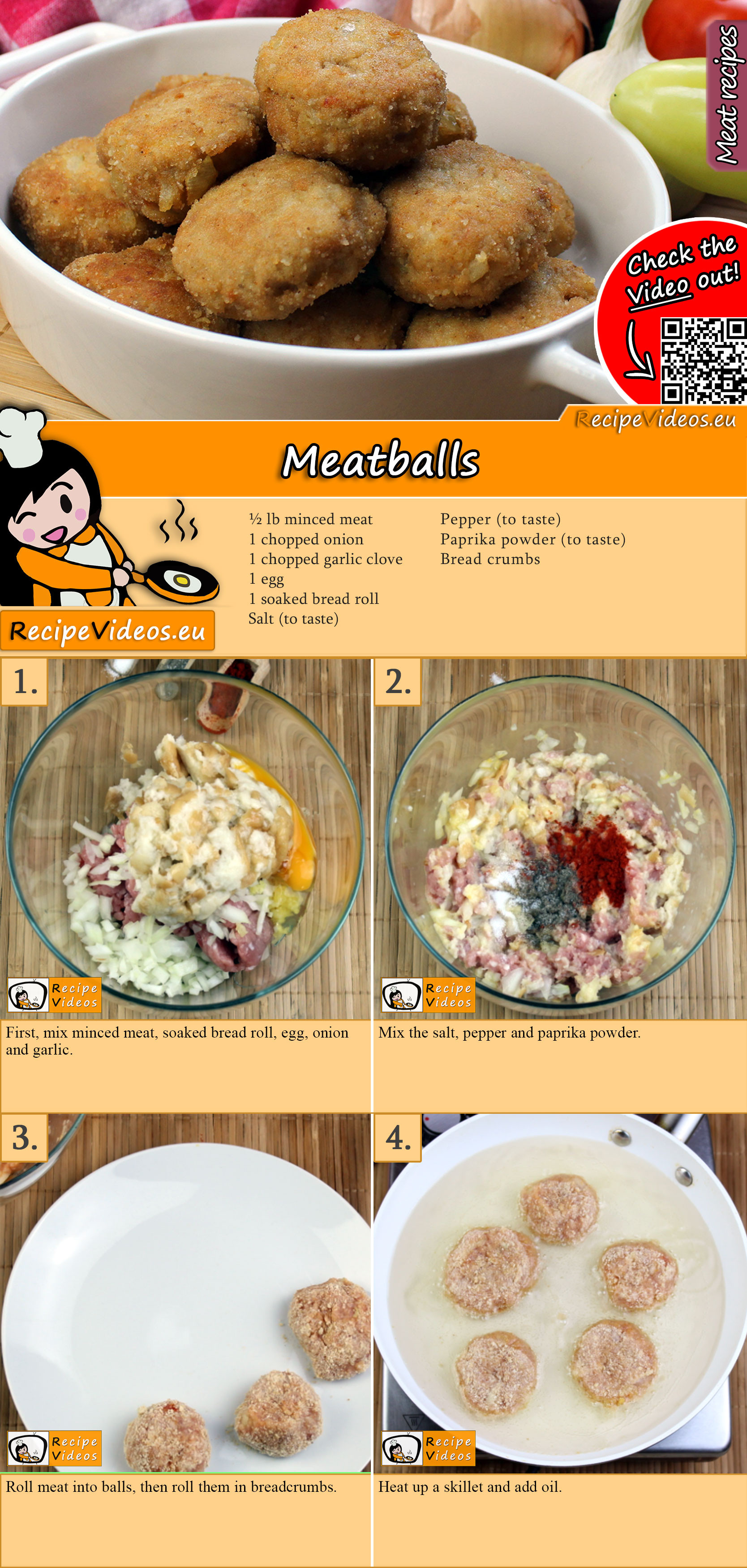 Meatballs recipe with video