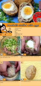 Meatballs stuffed with eggs recipe with video