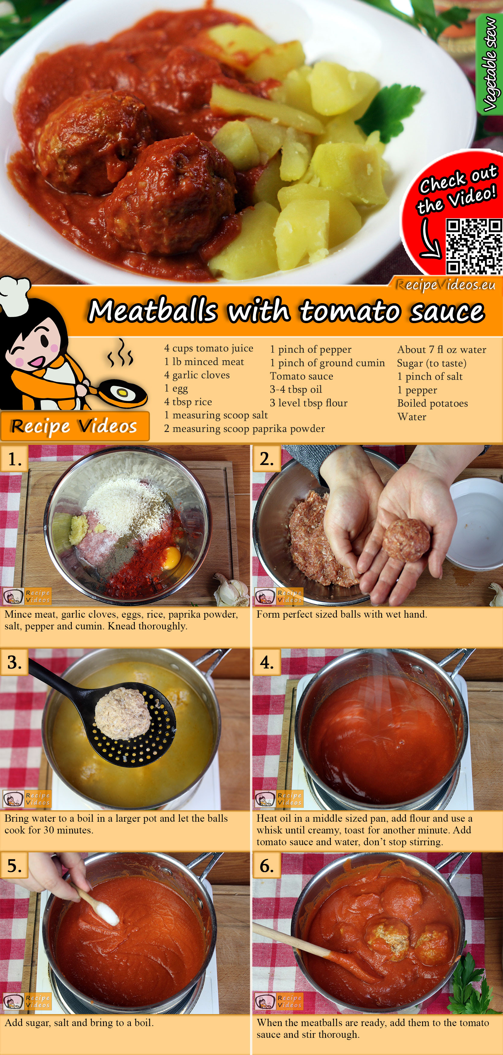 Meatballs with tomato sauce recipe with video
