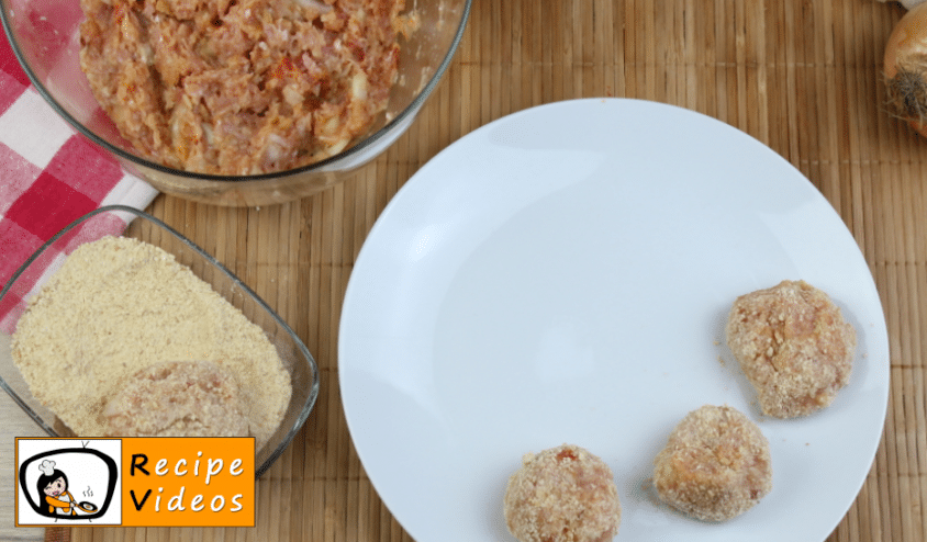 Meatballs recipe, prepping Meatballs step 3