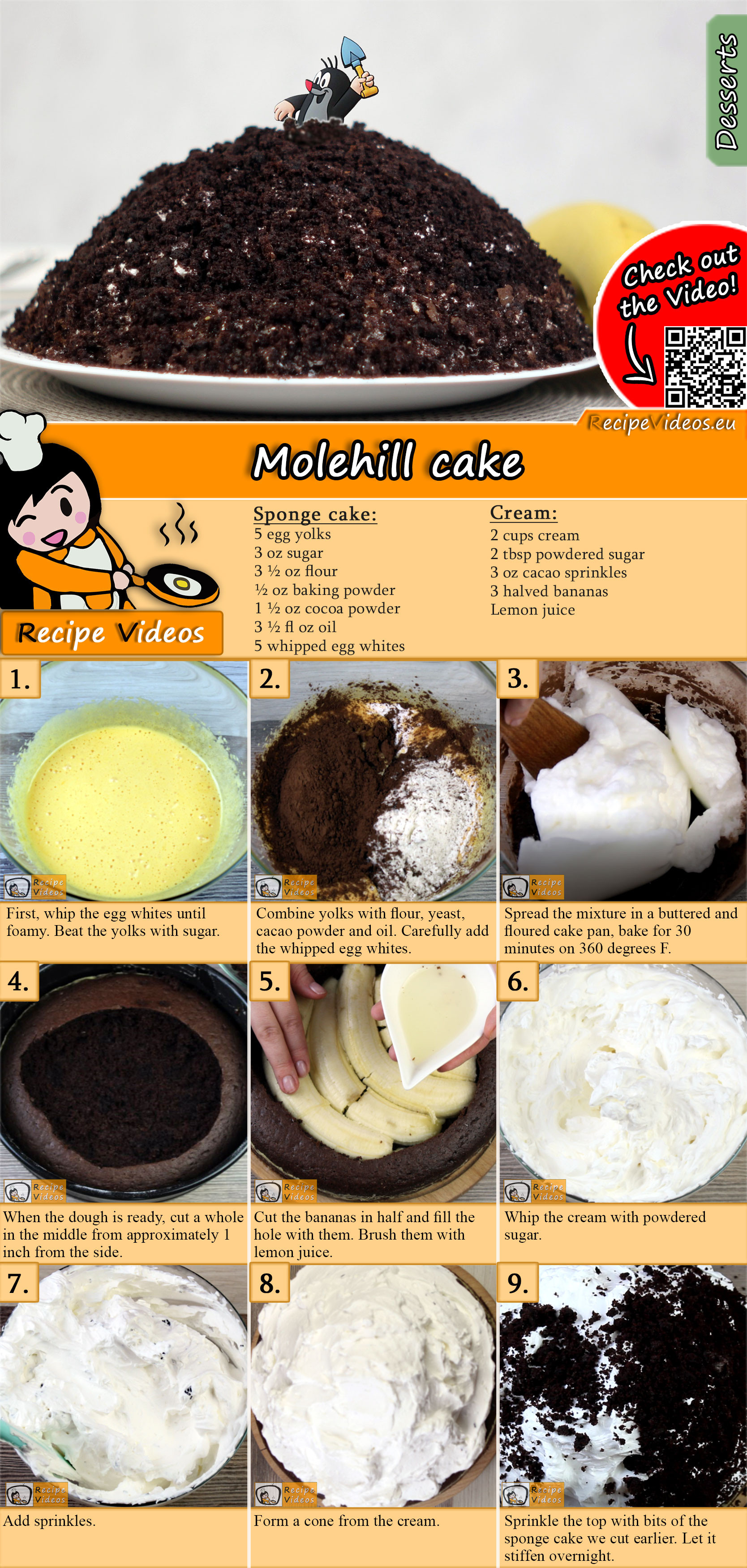 Molehill cake recipe with video