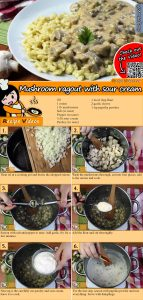 Mushroom ragout with sour cream recipe with video