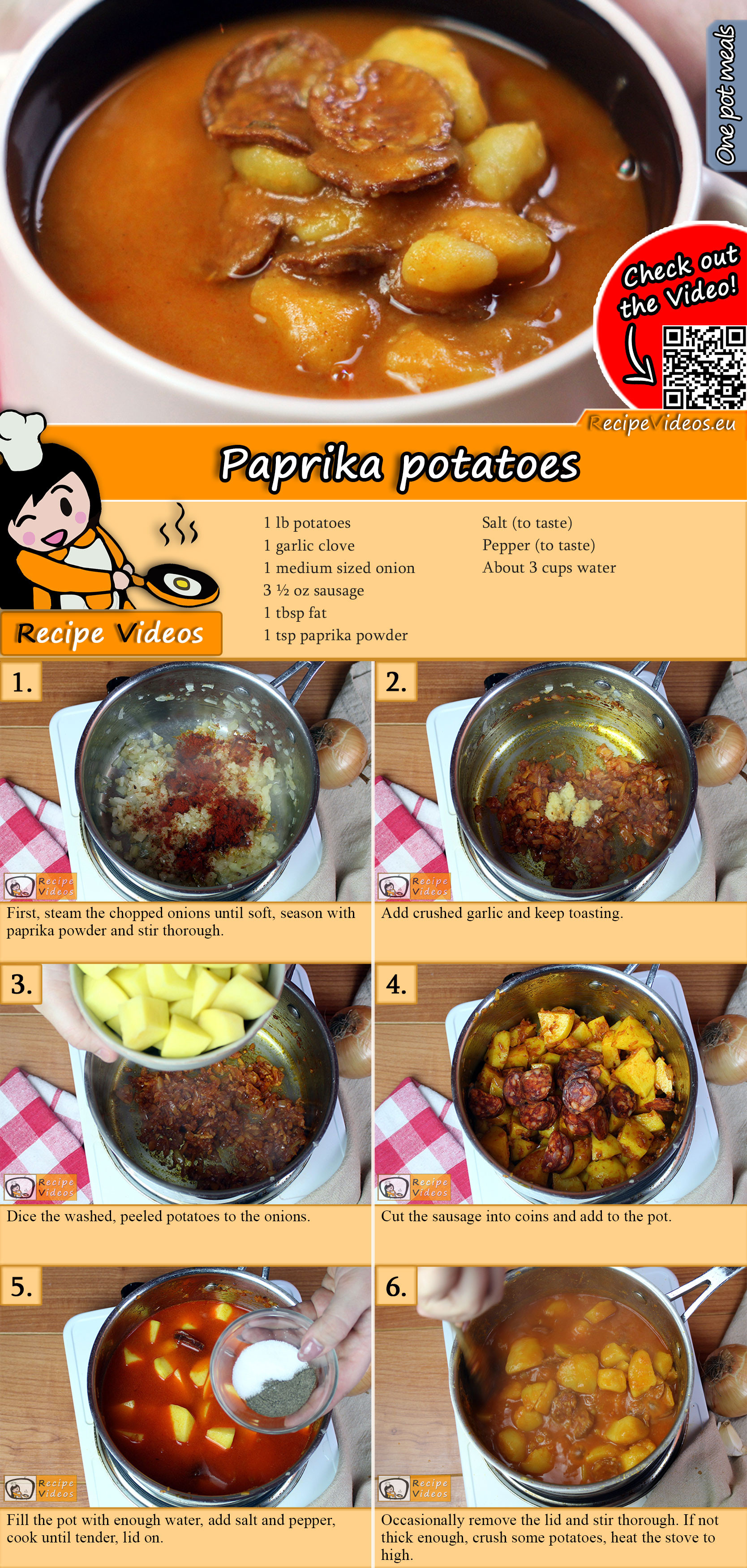 Paprika potatoes recipe with video