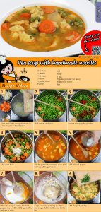 Pea soup with handmade noodles recipe with video